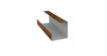 Доборные элементы (Блок-хаус/ЭкоБрус) Grand Line в Иваново Планка угла внутреннего составная нижняя