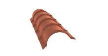 Коньки для кровли из металлочерепицы в Иваново Планка малого конька полукруглого